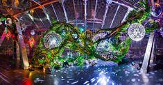 名古屋TV塔60周年|NENOUWASA/ねのうわさ Mirror Ball, Organic Architecture, Stage Design, Art Festival, Habitats, Rustic Wedding, City Photo, Glass Art, Floral Design