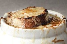 French Onion Soup- Side shot / Photo by Charles Masters, food styling by Sue Li
