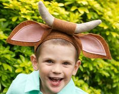 Cow Tail & Ears - Oxen tail and Ears - Kids or Adult Animal costume - Nativity Costume Bunny Costume Kids, Donkey Costume, Rabbit Costume, Nativity Costumes, Diy Nativity, Christmas Nativity, Christmas Pageant, Christmas Program, Halloween Sewing