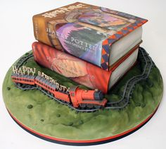 From Charm City Cakes: HP Books  (I want thissssss bad!)