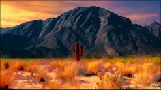 The Red Cactus - painting by Douglas MooreZart #painting #fineart #sculpture #anzaborrego #douglasmoorezart #cactus