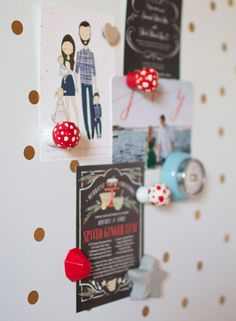 DIY toadstool magnets (made out of champagne corks!)