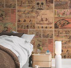 Os adesivos de parede estão sempre em alta e podem ser utilizados em todos os ambientes, como quartos, cozinhas, banheiros, salas... Este adesivo do Mickey Comics, da I Stick Online, fica lindo nos quartos infantis!