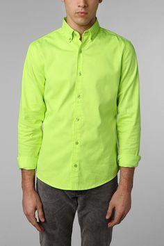 mens Charles & 1/2 Neon Poplin Shirt