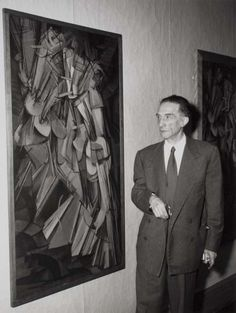 Marcel Duchamp with Nude Descending a Staircase