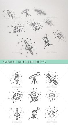 Space Icons #design Download: http://graphicriver.net/item/space-icons/12316343?ref=ksioks                                                                                                                                                                                 Mais