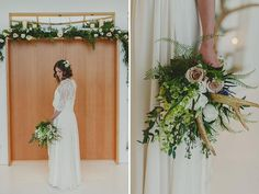 Add natural touches to your bouquet like stag antlers or small branches