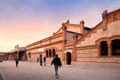 An Old Slaughterhouse Is Now A Public Cinema Center in Matadero de Legazpi, Madrid....I HOPE THEY GOT RID OF THE SMELL !!