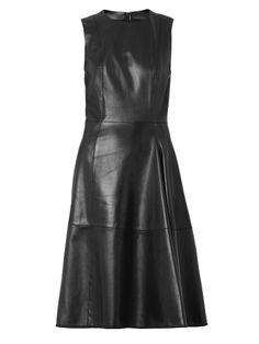 The Row Ottane leather dress