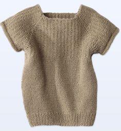 Modèle pull raglan manches courtes - Modèles tricot enfant - Phildar