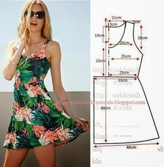 Trendy Sewing Clothes Diy Dress How To Make Ideas Dress Sewing Patterns, Sewing Patterns Free, Clothing Patterns, Sewing Tutorials, Pattern Sewing, Free Pattern, Sundress Pattern, Summer Dress Patterns, Sewing Diy