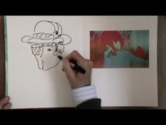 Peter Max doing a line drawing - quick and groovy