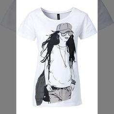 Compre a peça que procura aqui!   Camiseta estampada branca manga curta com decote redondo de 4490 por... <3 GANHE MAIS DESCONTO ? CLIQUE AQUI!  http://imaginariodamulher.com.br/look/?go=2lVelNQ  #achadinhos #modafeminina#modafashion  #tendencia #modaonline #moda #instamoda #lookfashion #blogdemoda #imaginariodamulher