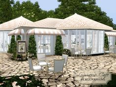 Bright and lovely cafe for your simmies!  Found in TSR Category 'Sims 3 Community Lots'