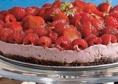 Nepečený raw jahodový koláč | Recepty.sk