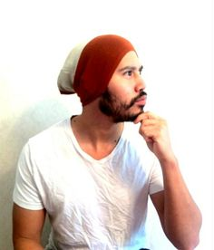 Mens Beanie Hat Christmas gift Slouch cap Men by MissTopKnot, $27.00