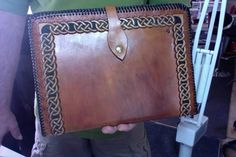 Items similar to Note Book / Portfolio / Organizer / Hand Carved and Tooled / Leather / Norse. Nordic / KnotWork / Handmade / Hand Crafted / Men / Women on Etsy Leather Tooling, Tooled Leather, Types Of Shoes, Michael Kors Jet Set, Hand Carved, Mens Fashion, Tote Bag, Note, Handmade