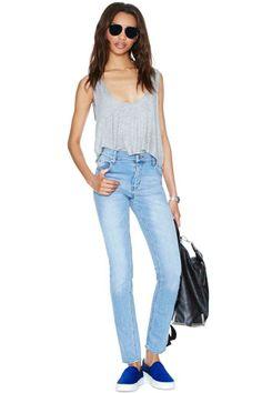 Cheap Monday Tight Skinny Jeans - Stonewash Blue