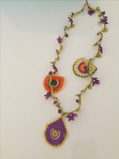 Elsa, Crochet Necklace, Jewelry, Fashion, Moda, Jewlery, Crochet Collar, Bijoux, La Mode