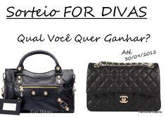 Eu quero ganhar a bolsa que @belezaecabelos e @_ForDivas estão sorteando!