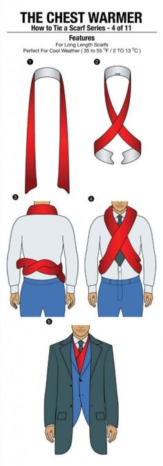 How to Tie A Scarf Series - 4 of 11: The Chest Warmer