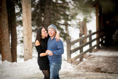 Romantic Vail Proposal at Gore Creek Covered Bridge After the Proposal Emotion
