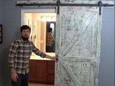 There are basically two types of barn door hardware. The first is a rustic, flat track sliding door system The second is a more modern roller and track style Barn Door In House, Building A Barn Door, Diy Barn Door, Building Plans, Sliding Door Systems, Sliding Barn Door Hardware, Door Hinges, Kitchen Pantry Doors, Pantry Cabinets