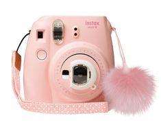 Boasting the same look and design before, this Limited Edition colour features a selfie mirror, close-up lens attachment, and matching pompom to fill every day with joy. Fujifilm Instax Mini, Fujifilm Instant Camera, Instax Mini 9, Polaroid Camera Pictures, Polaroid Camera Instax, Camera Lens, Polaroids, Mini Polaroid, Cute Suitcases