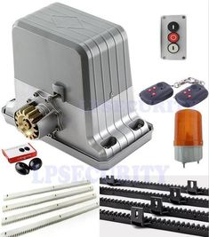 Lpsecurity Heavy Duty Automatic Electric Sliding Gate Motor Opener 4 Keyfob Kit contents: kit 1 includes: a remote steel rack; Sliding Gate Motor, Electric Sliding Gates, Sliding Shed Door, Shed Doors, Sliding Door Hardware, Grill Gate Design, House Gate Design, Fence Design, Balcony Design