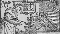 Artes Magicae: The Fetch: The True Spirit and the Meaning of Life   A witch feeds her familiars, from a woodcut made in 1579