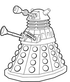 Doctor Who Coloring Pages | SelfColoringPages.com