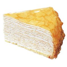 Japanese mille crepe cake Ok, I'm allergic to egg white, so have to do substitutions for the crepes, but I want to try this badly. Crepes, Puff Pastry Recipes, Crepe Recipes, Mille Crepe, Just Desserts, Delicious Desserts, Dessert Recipes, Crepe Maker, Pancakes And Waffles