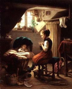 Johann Georg Meyer von Bremen - Tending The Little Ones.bmp