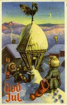 Julekort Damsleth ca 1950