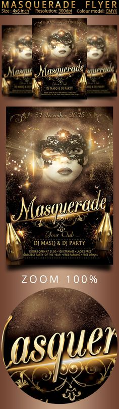 Masquerade Flyer by oloreon on Creative Market