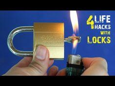 4 Amazing life hacks with Locks - YouTube