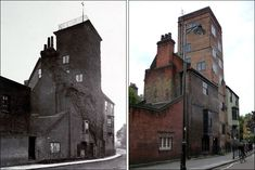 Canonbury Tower, Islington. Cromwell lived here after the dissolution of the monastaries. It dates back to the early 1500s. The picture on the left is from the 1880s.