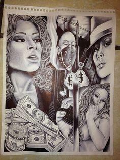 ORIGINAL PRISON ART FROM CORCORAN STATE PRISON SHU