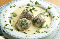 Greek Meatball Soup in Egg-lemon sauce (Youvarlakia Avgolemono)