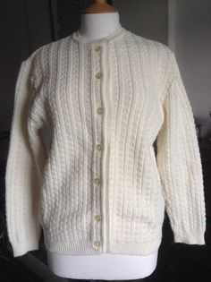 by MonaBellsVintage Vintage Clothing, Vintage Outfits, Cardigans For Women, Cream, Trending Outfits, Lady, Sweaters, Inspiration, Clothes