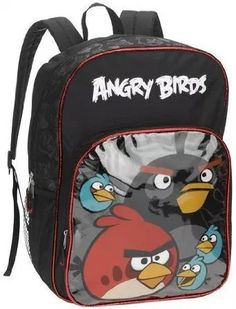 Rovio Angry Birds Logo Canvas Shine Blue Pre School Shoulder Strips Backpack