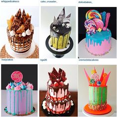 """""""You know, nothing warms my big goofy heart more than seeing your inspired bakes. Thank you for not only acknowledging & sharing your…"""" Candy Cakes, Cupcake Cakes, Cake Icing, Eat Cake, Gorgeous Cakes, Amazing Cakes, Drippy Cakes, Gateaux Cake, Cake Business"""