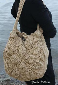 Embossed Garden Handbag pattern by Bonita Patterns Embossed Garden Handbag Crochet Pattern Crochet Purse Patterns, Bag Crochet, Crochet Shell Stitch, Crochet Clutch, Crochet Handbags, Crochet Purses, Love Crochet, Crochet Stitches, Handbag Patterns