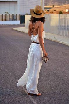 Zara White Flowy Back Lace Up Full Length Dress  # #Wearning The Time #Summer…