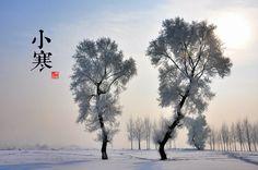 小寒《月令七十二候集解》:「十二月節,月初寒尚小,故云,月半則大矣。」