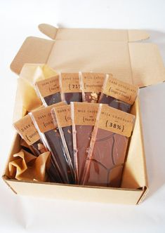 Set of 9 Organic and Fair Trade Chocolate Bars by CocoaAndHoney