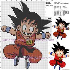 Petit Goku grille point de croix