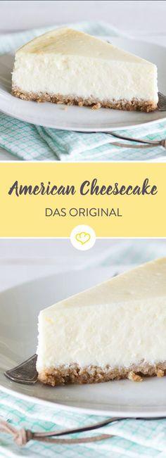 Klassischer American Cheesecake mit Keksboden