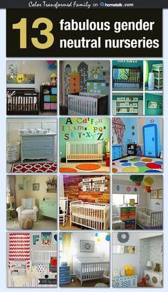 Lots of great ideas for gender neutral baby rooms.
