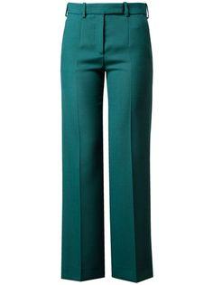 CARVEN - Wide leg virgin wool trousers #Emerald